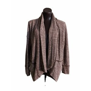 Roots Open Waterfall Cardigan Sweater with Pockets Sz Small